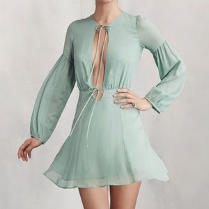 Reformation Bella Mint Dress